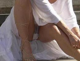 A girl in panties in this upskirt gelery Image 1