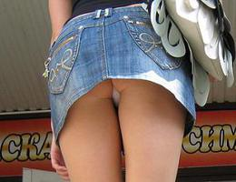 A girl in panties in this upskirt gelery Image 2