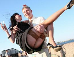 A girl in panties in this upskirt gelery Image 3