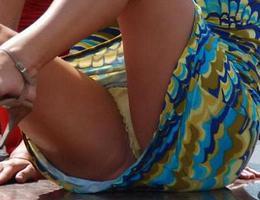 A girl in panties in this upskirt gelery Image 4