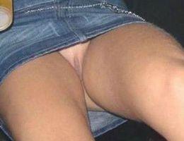 A girl in panties in this upskirt gelery Image 5
