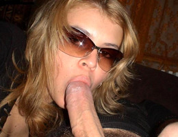 An amateur babe giving her boyfriend a blowjob and taking his load collection Image 7