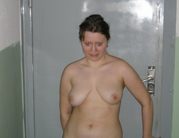 My new hot a little fat girlfriend likes showing her pudgy hole and titties to my camera. Image 6