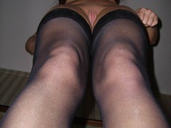 My sexciting wife and my GFs like making love in stockings. Image 7