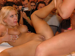 Our perfect sexy young women become so sexcited during their amazing performance and cannot prevent it from coming to real porn action! Image 6