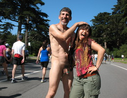 Clothed Females Naked Males Having Fun Party gellery Image 8