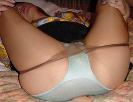 Ladies love to wear pantyhose on naked body images Image 1
