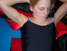 Ladies love to wear pantyhose on naked body images Image 3