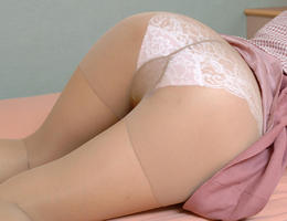 Ladies love to wear pantyhose on naked body images Image 4