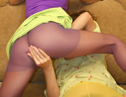 Ladies love to wear pantyhose on naked body images Image 6