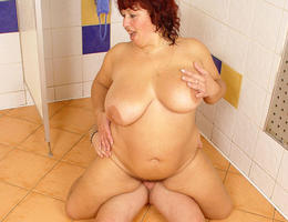 BBW wife with saggy droopy tits series Image 3