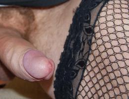 Perverse Crossdresser posing in Panties gellery Image 1