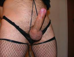 Perverse Crossdresser posing in Panties gellery Image 2
