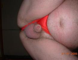 Perverse Crossdresser posing in Panties gellery Image 8