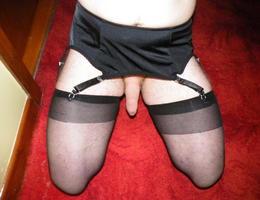 Perverse Crossdresser posing in Panties gellery Image 9