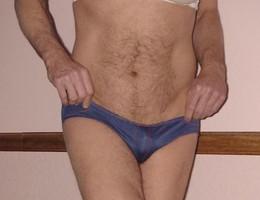 Man in girlfriends panties gellery Image 3