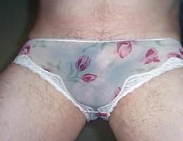 Man wearing pantie & lingerie gal Image 3