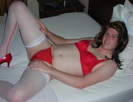 Crossdresser posing in beautiful lingerie gelery Image 2