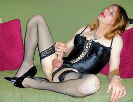 Crossdresser posing in beautiful lingerie gelery Image 3