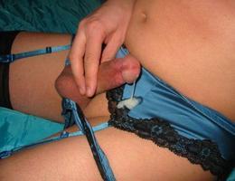 Crossdresser posing in beautiful lingerie gelery Image 7
