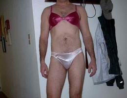 Crossdresser posing in beautiful lingerie gelery Image 8