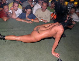 Beauty model striptease XXX show series Image 1