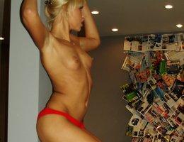 Beauty model striptease XXX show series Image 9