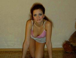 Amateur girl posing in lingerie series Image 1
