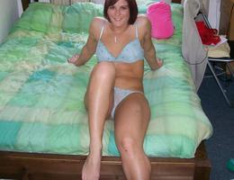 Amateur girl posing in lingerie series Image 4