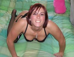 Amateur girl posing in lingerie series Image 5