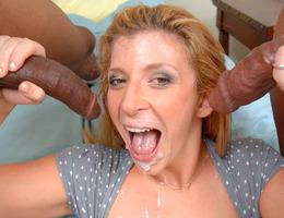 Horny slut loves to suck and fuck big cocks gallery Image 9