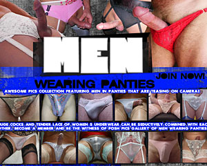 men wearing panties