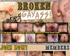 broken gay ass