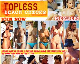 topless beach chicks