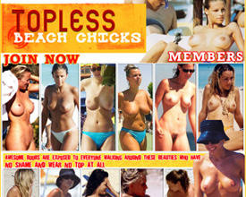 topless beach chicks