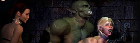 Hardcore 3D monster horror