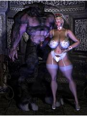 cartoon monster porn