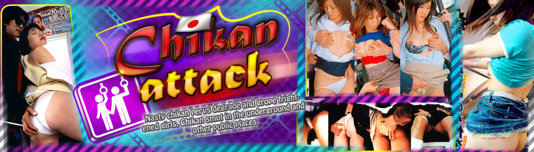 Nasty chikan pervs degrade and grope frightened girls