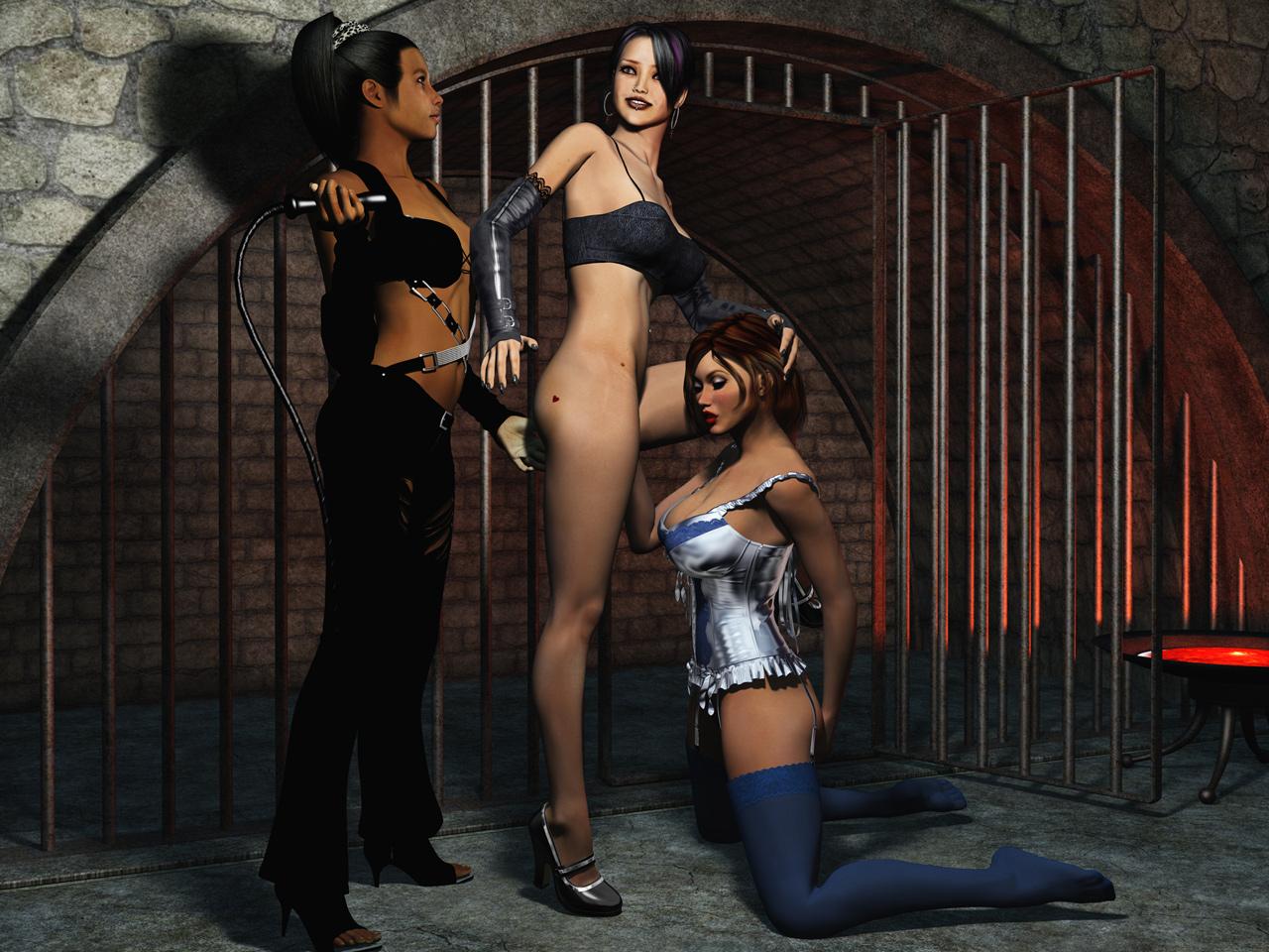 так раб в плену у госпожи видео брюнеточка идеальной фигурой