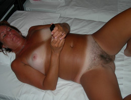 Slut with perfect tits and nipples and a lovely hairy pussy  gelery Image 2