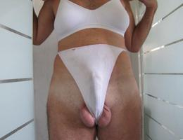Crossdresser posing in beautiful lingerie galery Image 5