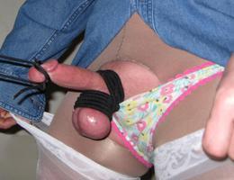 Man wearing pantie & lingerie gal Image 4