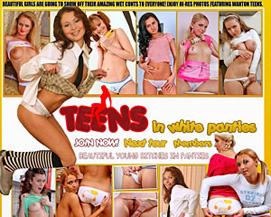 teens in white panties