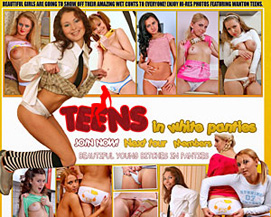 teens in white panties